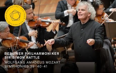 Simon Rattle dirigiert Mozarts Symphonien Nr. 39, 40 und 41
