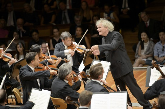 Simon Rattle conducts Mozart's Symphonies Nos  39, 40 and 41